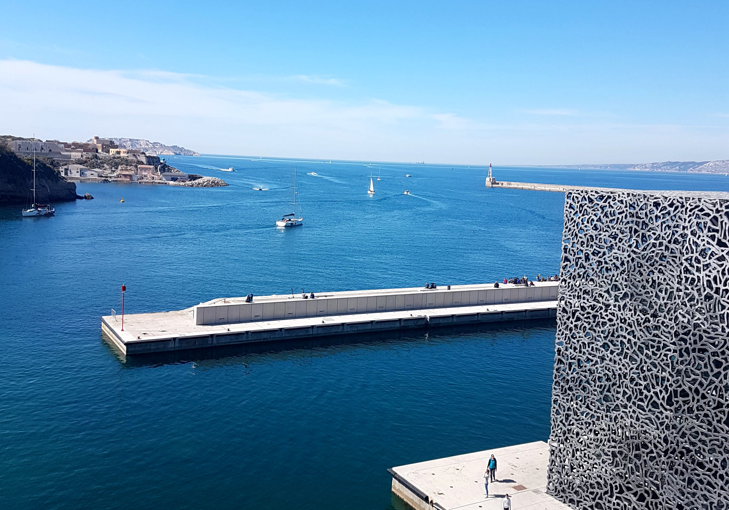 Marseille & the Mucem, its modern museum facing the Mediterranean Sea