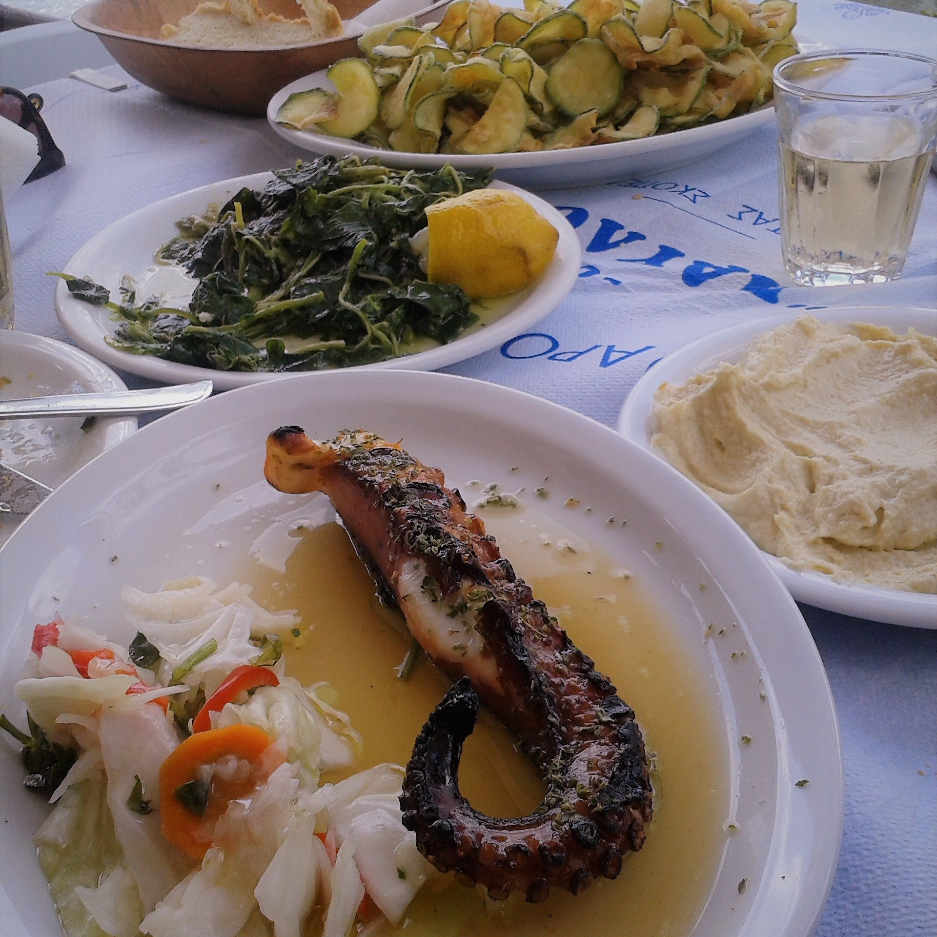 Octopus and other delicious Greek Mezze